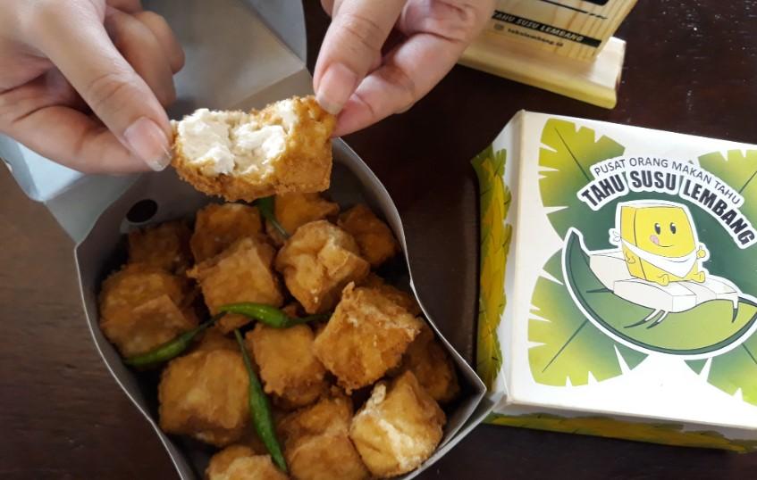 Makanan Khas Jawa Barat-Tahu Susu Lembang